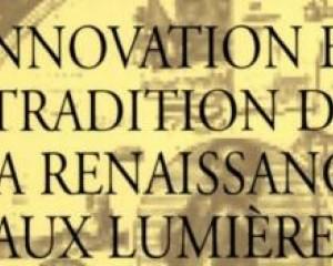 In _Innovation et Tradition de la Renaissance aux Lumières_, Paris: Presses Sorbonne Nouvelle, 65-74