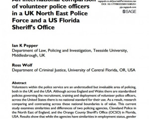 Police Journal: Theory, Practice and Principles