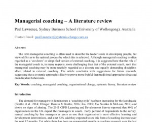 International Journal of Evidence Based Coaching and Mentoring  publication description