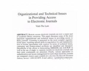 Serials librarian, v. 39, no. 3 (2001), 25-34