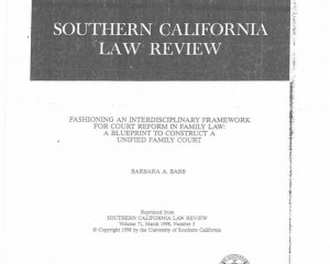 Southern California Law Review, Vol. 71, March 1998, Number 3