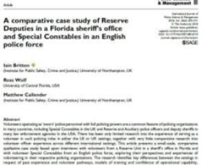 International Journal of Police Science & Management