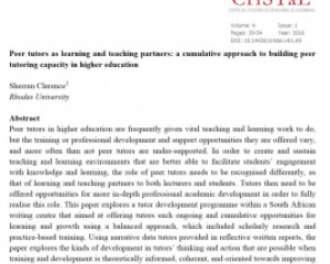 Critical Studies in Teaching and Learning