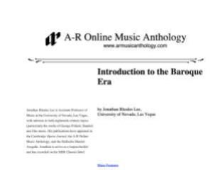 A-R Music Anthology