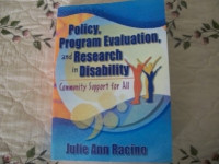 Policy, Program Evaluation and Research in Disability: Community Support for All