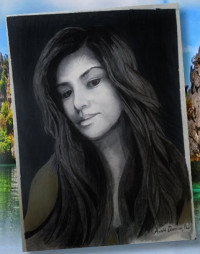 I sketched an exotic woman...