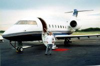 Neal and the Boss' jet