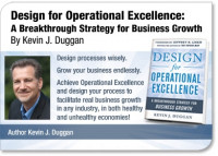 Design for Operational Excellence, Lastest Book by Kevin Duggan