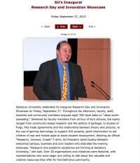 Photo Forte SU Research Showcase Presenting 2013