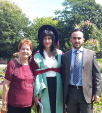 Antoinette on Graduation Day with Mum and Son - 17 July, 2014