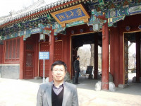 Hongyi Lai visiting Beijing University where he studied during 1983-89