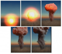 Sequence of a Nuclear explosion created in Maya
