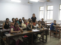 me teaching in Jadavpur University, Calcutta