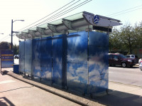 Cloud Coordinate (2013-2015), a series of bus shelter installations in Vancouver