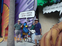 The authors on vacation at Universal Studios Islands of Adventure