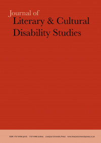 Journal of Literary & Cultural Disability Studies