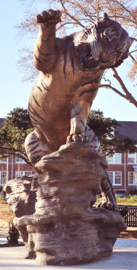 Bronze Sculpture of the Grambling Tiger