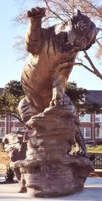 Bronze Sculpture of the Grambling Tiger