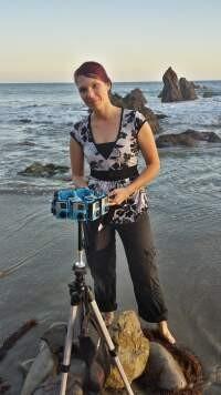Celine Tricart shooting a VR film