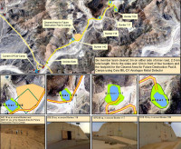 Some chemical weapon bunkers discovered in a desert in Libya