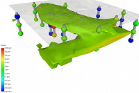 3D model showing arsenic concentration in an environmentally impacted site