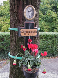 Memorial to partisan Cervellin, murdered by Fascists in 1944