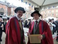 Following award of Teaching Prize, Royal Holloway University of London, July 2010.
