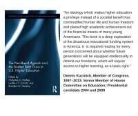 Dennis Kucinich Endorsement