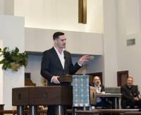 Craig Considine speaking on the Abrahamic tradition at Good Shepherd Church