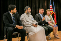Taking questions at Clear Lake Islamic Center and MAS annual iftar gathering
