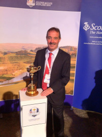 Professor Jarvie with Ryder Cup