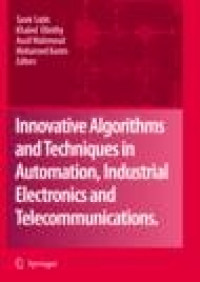 Dr. Taan ElAli/Co-Author/Contributor Innovative Algorithms and Techniques in Automation, Industrial Electronics and Telecommunications
