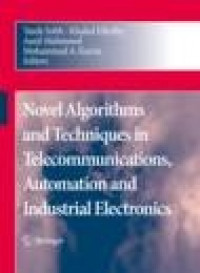 Dr. Taan ElAli/Co-Author/Contributor Novel Algorithms and Techniques in Telecommunications, Automation and Industrial Electronics