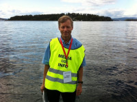 Kjell Brataas assisted with media and social media during visits to Utoya.