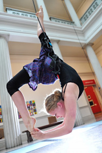 Aerial performance at the Corcoran Gallery of Art