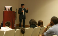One of Dr Maxat Kassen's lectures on digital politics in Raleigh, NC (USA)