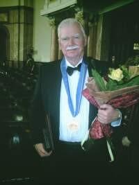 Receiving Medal