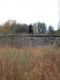 The author at work at the Middlesex Filter Beds in London