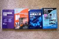 Various editions of the Metalworking Fluids book