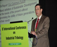 Speaking at International Tribology Conference in Pune, India, 2012