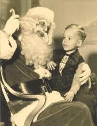 With Santa, December 1952