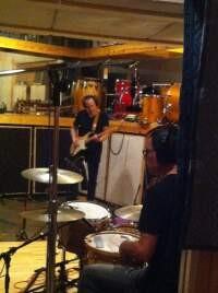 Recording drums, Ohm Studio, Austin, TX