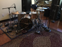 Recording drums Tophat Studio, Knoxville, TN