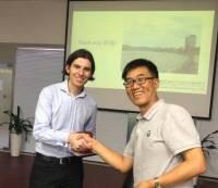 With Prof Qiu Guoyu after presentation @ Peking School of Environment & Energy