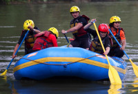Swift water training with disaster team