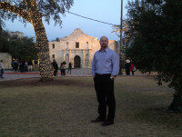 At the Alamo with students during NSCA mtg.