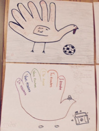 Verb turkeys made by students