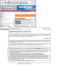 Solder filling of TSV