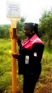 Pipe-to-soil potential measurement on GNGC pipeline