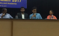 As panel member during the panel discussion session in VIT Bio-Summit 2017